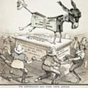 Anti-greenback Cartoon Art Print
