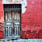 Antigua Door  Art Print