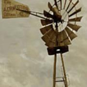Antique Aermotor Windmill Art Print