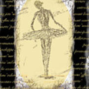 Antique Ballet Art Print