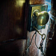 Antique Brass Doorknob Art Print