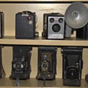 Antique Cameras Art Print