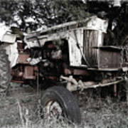 Antique Case Tractor Art Print