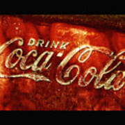 Antique Coca-cola Cooler II Art Print