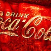 Antique Coca-cola Cooler Art Print