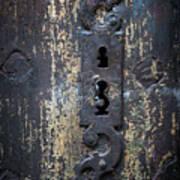 Antique Door Lock Detail Art Print