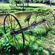 Antique Farm Equipment 3 Art Print