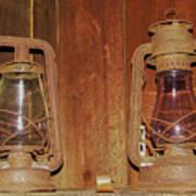 Antique Lamps Art Print