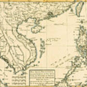 Antique Map Of South East Asia Art Print