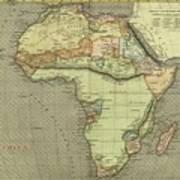 Antique Maps - Old Cartographic Maps - Antique Map Of Africa Art Print