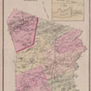 Antique Maps - Old Cartographic Maps - Antique Map Of Sudbury, Canada, 1875 Art Print