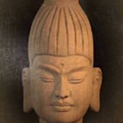 antique oil effect Buddha Burmese Art Print