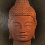 antique oil effect Buddha Khmer Art Print