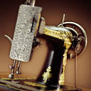 Antique Singer Sewing Machine 2 Art Print