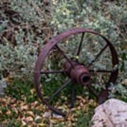 Antique Steel Wagon Wheel Art Print