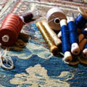 Antique Tapestry Repair  Art Print