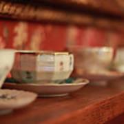 Antique Teacups Art Print