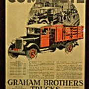 Antique Truck Poster Art Print