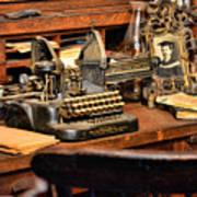 Antique Typewriter Art Print
