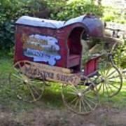 Antique Wine Wagon Art Print