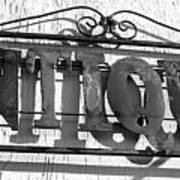 Antiques Store Sign Art Print