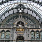 Antwerp Train Art Print