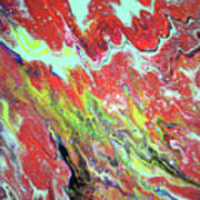 Ap-red And Aqua Art Print