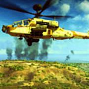 Apache Ai Assault - Operation Desert Wolves Art Print