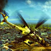 Apache Ai Assault - Operation Osama Art Print