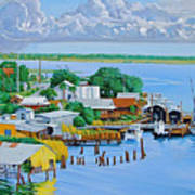 Apalachicola Waterfront Art Print