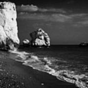 Aphrodites Rock Petra Tou Romiou Republic Of Cyprus Art Print by Joe Fox