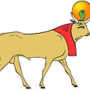 Apis - Egyptian Sacred Bull Art Print