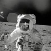 Apollo 12 Moonwalk Art Print