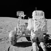Apollo 16 Astronaut Reaches For Tools Art Print