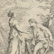 Apollo And The Cumaean Sibyl Art Print