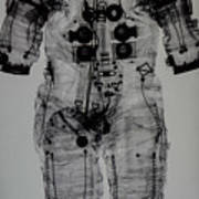 Apollo Space Suit X-ray Art Print
