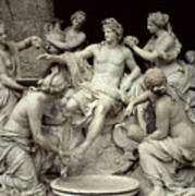 Apollo Tended By The Nymphs, Intended For The Grotto Of Thetis Art Print