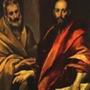 Apostles Peter And Paul 1592 Art Print