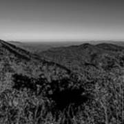 Appalachian Mountains From Mount Mitchell, The Highest Point In  Art Print