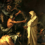 Apparition Of The Spirit Of Samuel To Saul Art Print by Salvator Rosa