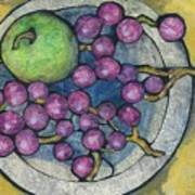 Apple And Grapes Art Print