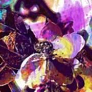 Apple Beetles Flowers Pollinating  Art Print