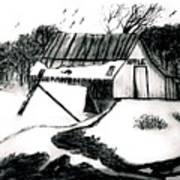 Apple Farm In Winter Art Print