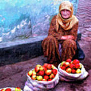 Apple Seller Art Print