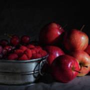 Apples And Berries Panoramic Art Print
