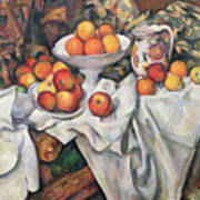 Apples And Oranges Art Print by Paul Cezanne