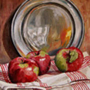 Apples And Pewter Art Print