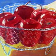 Apples In Wirebasket Art Print