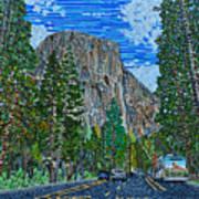 Approaching El Capitan Yosemite National Park Art Print