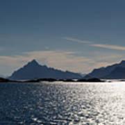 Approaching Lofoten Art Print